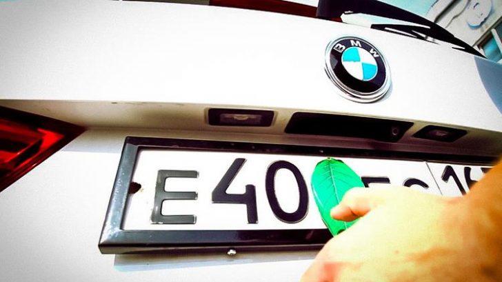 Магніт на номер автомобіля