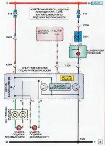 Електронний блок подушки безпеки Daewoo Lanos