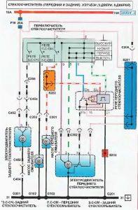Схема перемикача склоочисника машини